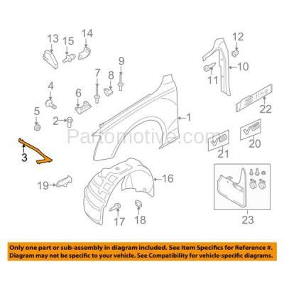 Aftermarket Replacement - FDS-1001L & FDS-1001R 08-16 A5/S5 Front Fender Brace Support Bracket Driver & Passenger Side SET PAIR - Image 3