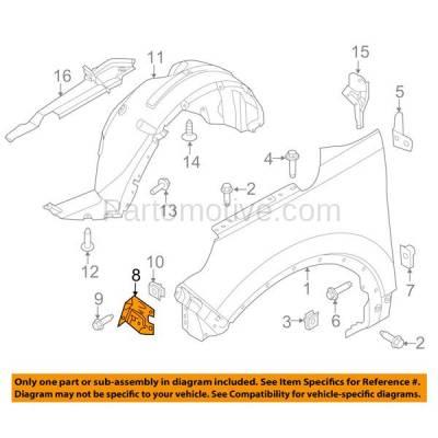 Aftermarket Replacement - FDS-1010L & FDS-1010R 11-17 Explorer Front Fender Brace Support Bracket Left Right Hand Side SET PAIR - Image 3