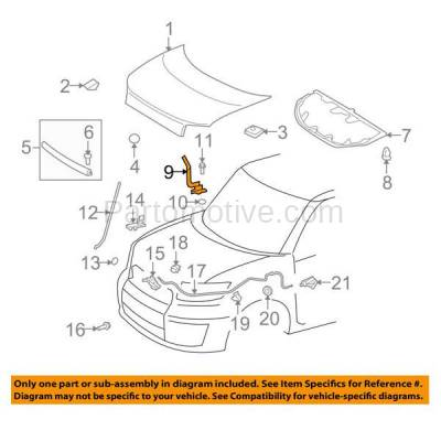 Aftermarket Replacement - HDH-1162R 2008-2015 Scion xB (Base) Wagon 4-Door (2.4 Liter Engine) Front Hood Hinge Bracket Made of Steel Right Passenger Side - Image 3