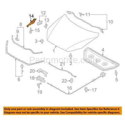 Aftermarket Replacement - HDH-1120L 2013-2016 Mazda CX-5 (Sport Utility 4-Door) (2.0 & 2.5 Liter Engine) Front Hood Hinge Bracket Made of Steel Left Driver Side - Image 3