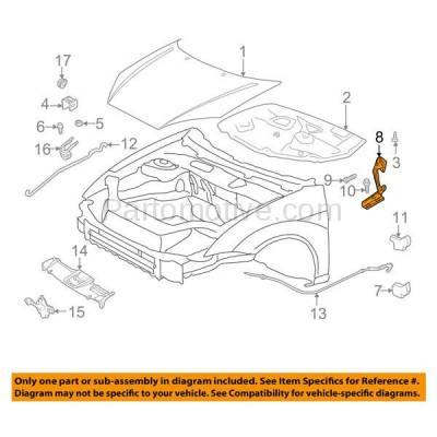 Aftermarket Replacement - HDH-1041R 2000-2011 Ford Focus (Coupe & Hatchback & Sedan & Wagon) (2.0 & 2.3 Liter Engine) Front Hood Hinge Bracket Made of Steel Right Passenger Side - Image 3