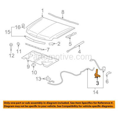 Aftermarket Replacement - HDH-1064R 2007-2014 Cadillac Escalade/ESV/EXT & Chevrolet/GMC Avalanche, Suburban, Tahoe, Yukon/XL Front Hood Hinge Assist Spring Right Passenger Side - Image 3