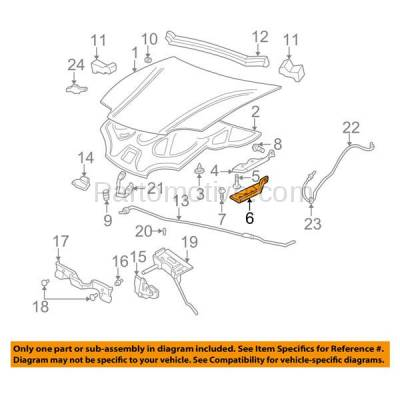 Aftermarket Replacement - HDH-1066L 1995-2005 Chevrolet Cavalier & Pontiac Sunfire (Convertible & Coupe & Sedan) Front Hood Hinge Lower Bracket Made of Steel Left Driver Side - Image 3