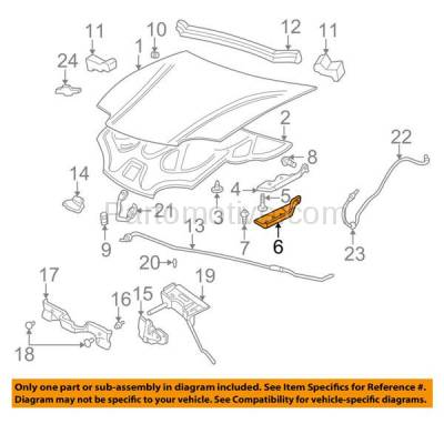 Aftermarket Replacement - HDH-1066R 1995-2005 Chevrolet Cavalier & Pontiac Sunfire (Convertible & Coupe & Sedan) Front Hood Hinge Lower Bracket Made of Steel Right Passenger Side - Image 3