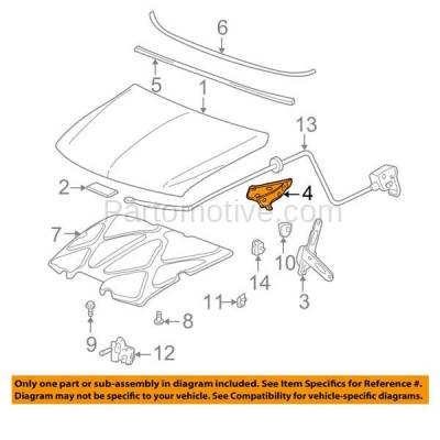 Aftermarket Replacement - HDH-1067L 2000-2006 Cadillac Escalade & Chevy Avalanche/Suburban/Tahoe/Yukon XL & 1999-2007 Silverado/Sierra Hood Hinge Steel Left Driver Side - Image 3