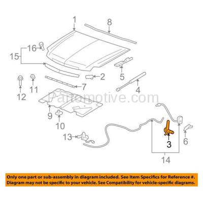 Aftermarket Replacement - HDH-1064L 2007-2014 Cadillac Escalade/ESV/EXT & Chevrolet/GMC Avalanche, Suburban, Tahoe, Yukon/XL Front Hood Hinge Assist Spring Left Driver Side - Image 3