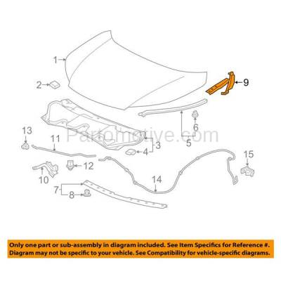 Aftermarket Replacement - HDH-1078L 2012-2016 Honda CR-V (EX, EX-L, i-Style, LX, SE, Touring) (2.4 Liter Engine) Front Hood Hinge Bracket Made of Steel Left Driver Side - Image 3