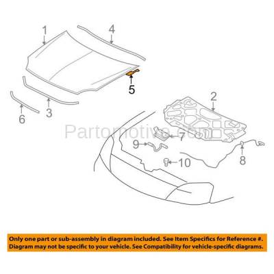 Aftermarket Replacement - HDH-1034R 2005 2006 2007 Ford Five Hundred, Freestyle, Mercury Montego & 2008 2009 Taurus, Taurus X Front Hood Hinge Bracket Made of Steel Right Passenger Side - Image 3