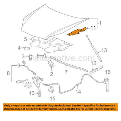 Aftermarket Replacement - HDH-1055R 2006-2013 Chevrolet Impala & 2014-2016 Impala Limited & 2006-2007 Monte Carlo (Upper Hood Mount) Front Hood Hinge Bracket Right Passenger Side - Image 3