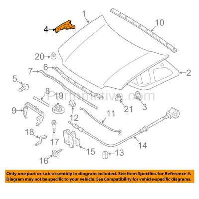 Aftermarket Replacement - HDH-1035R 2008-2012 Ford Escape & 2008-2011 Mercury Mariner (2.3 & 2.5 & 3.0 Liter Engine) Front Hood Hinge Bracket Made of Steel Right Passenger Side - Image 3