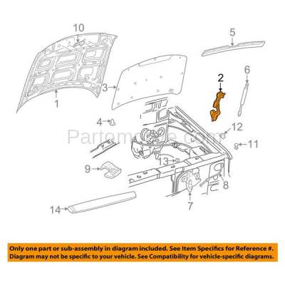 Aftermarket Replacement - HDH-1036R 2002-2010 Ford Explorer, Mercury Mountaineer & 2007-2010 Sport Trac Pickup Truck & 2003-2005 Lincoln Aviator Front Hood Hinge Right Passenger Side - Image 3