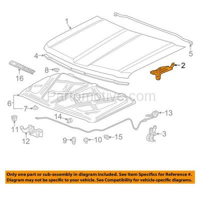 Aftermarket Replacement - HDH-1052R 2015-2016 Chevrolet Silverado & GMC Sierra 2500/3500 HD Pickup Truck Front Hood Hinge Bracket Made of Steel Right Passenger Side - Image 3