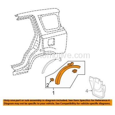 Aftermarket Replacement - FDT-1055R 97-01 CRV Rear Fender Molding Moulding Trim Arch Right Passenger Side HO1791101 - Image 3