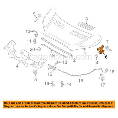 Aftermarket Replacement - HDH-1023R 2015-2018 Ford Transit-150/250/350/350 HD (Base, PTV, XL, XLT) Front Hood Hinge Bracket Made of Steel Right Passenger Side - Image 3