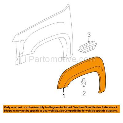 Aftermarket Replacement - FDT-1042R 07-14 Tahoe Front Fender Flare Molding Moulding Trim RH Passenger Side GM1269119 - Image 3