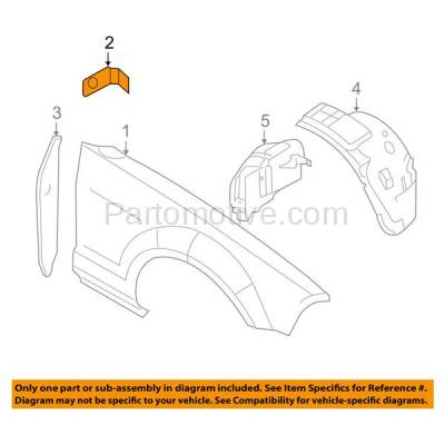 Aftermarket Replacement - FDS-1033 05-14 Mustang Front Fender Brace Support Bracket Left Driver or Right Passenger - Image 3
