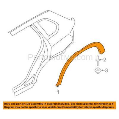 Aftermarket Replacement - FDT-1001L 14-17 X5 Rear Fender Molding Moulding Arch Trim Left Side BM1790109 51777343143 - Image 3