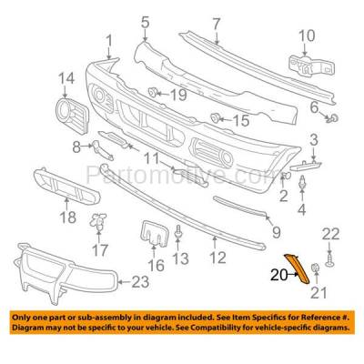 Aftermarket Replacement - FDT-1032L 06-10 Explorer Front Fender Molding Moulding Trim LH Left Driver Side FO1290121 - Image 3