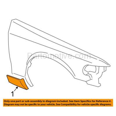 Aftermarket Replacement - FDT-1020R 06-08 Grand Marquis Front Fender Molding Moulding Trim Passenger Side FO1293103 - Image 3