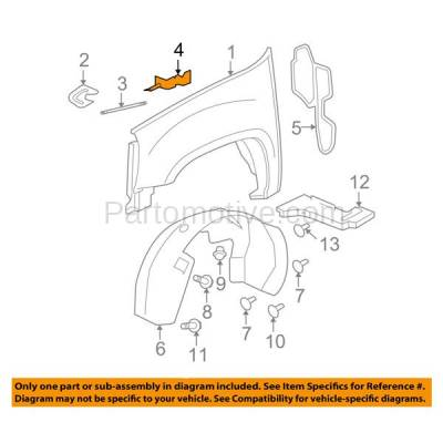 Aftermarket Replacement - FDS-1019R 07-14 Chevy Silverado Truck Fender Brace Support Bracket RH Right Side GM1245105 - Image 3