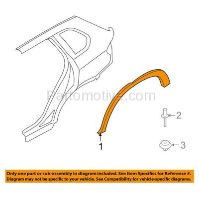 Aftermarket Replacement - FDT-1004L 07-13 X5 Rear Fender Molding Moulding Trim LH Driver Side BM1790104 51777158425 - Image 3