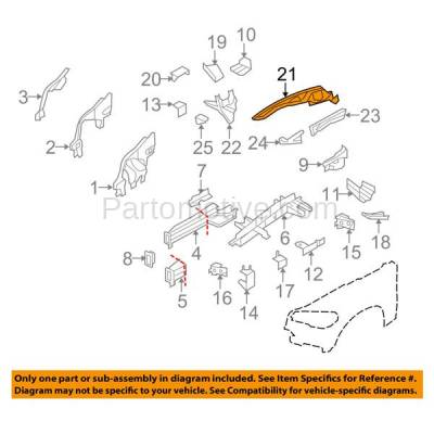Aftermarket Replacement - FDS-1006R 07-13 X5/08-14 X6 Front Fender Brace Support Bracket Upper Right Side BM1245100 - Image 3