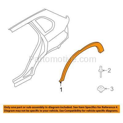 Aftermarket Replacement - FDT-1006R 11-13 X5 Rear Fender Molding Moulding Trim Passenger Side BM1791105 51777163560 - Image 3