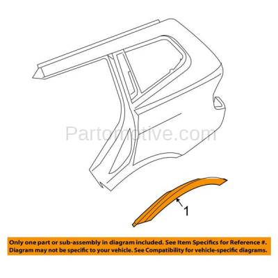 Aftermarket Replacement - FDT-1008R 04-10 X3 Rear Fender Panel Molding Moulding Trim Right Passenger Side BM1791102 - Image 3