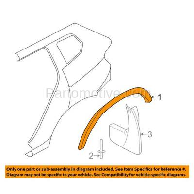 Aftermarket Replacement - FDT-1009R 12-15 X1 Rear Fender Molding Moulding Trim Arch Right Side BM1791100 51778049942 - Image 3