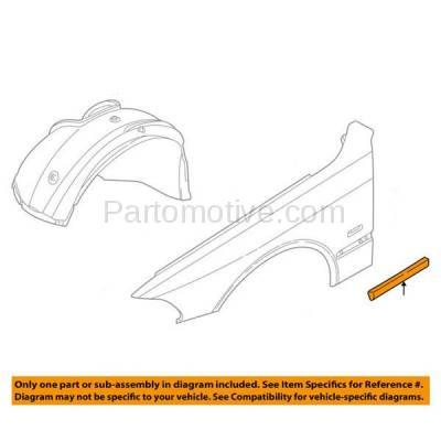 Aftermarket Replacement - FDT-1010L 97-00 5-Series Front Fender Molding Moulding Trim LH Left Driver Side BM1292104 - Image 3