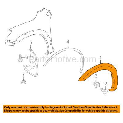 Aftermarket Replacement - FDF-1063L 06-12 RAV-4 Front Fender Flare Wheel Opening Molding Trim Arch Left Driver Side - Image 3