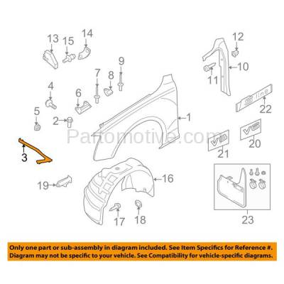Aftermarket Replacement - FDS-1001R 08-16 A5/S5 Front Fender Brace Support Bracket Right Side AU1245102 8T0821136G - Image 3