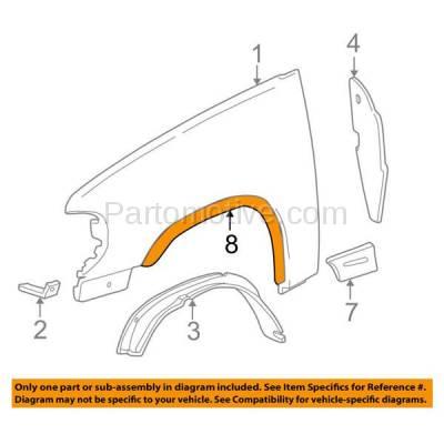 Aftermarket Replacement - FDF-1033R 07-17 Wrangler JK Front Fender Flare Wheel Opening Molding Trim Passenger Side - Image 3
