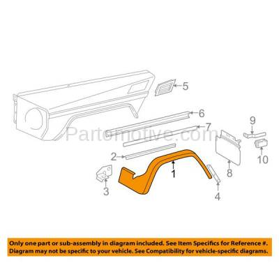 Aftermarket Replacement - FDF-1053R 03-14 G-Class Front Fender Flare Wheel Opening Molding Trim Right Passenger Side - Image 3