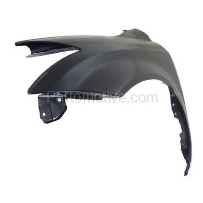Aftermarket Replacement - FDR-1511LC CAPA 2003-2007 Nissan Murano (3.5 Liter V6 Engine) Front Fender Quarter Panel (without Molding Holes) Primed Steel Left Driver Side - Image 2