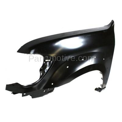 Aftermarket Replacement - FDR-1674LC CAPA 2005-2007 Toyota Sequoia & 2005-2006 Tundra Pickup Truck (Limited & SR5) Front Fender (with Flare Holes) Primed Steel Left Driver Side - Image 2