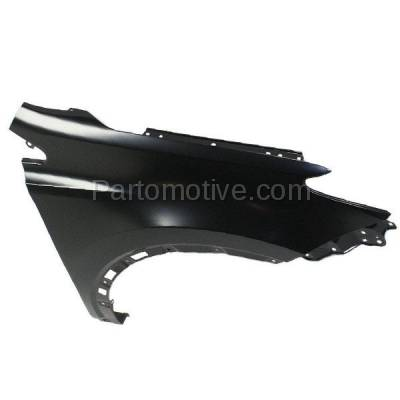 Aftermarket Replacement - FDR-1607RC CAPA 2013-2018 Toyota RAV4 (2.5 Liter Engine) Except EV Model (Japan Built) Front Fender Quarter Panel Primed Steel Right Passenger Side - Image 3