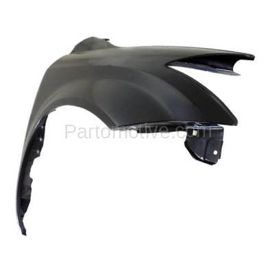 Aftermarket Replacement - FDR-1511RC CAPA 2003-2007 Nissan Murano (3.5 Liter V6 Engine) Front Fender Quarter Panel (without Molding Holes) Primed Steel Right Passenger Side - Image 2
