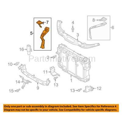 Aftermarket Replacement - RSP-1480R 2013-2016 Mazda CX-5 (2.0 & 2.5 Liter Engine) Radiator Support Side Bracket Brace Support Panel Primed Steel Right Passenger Side - Image 3