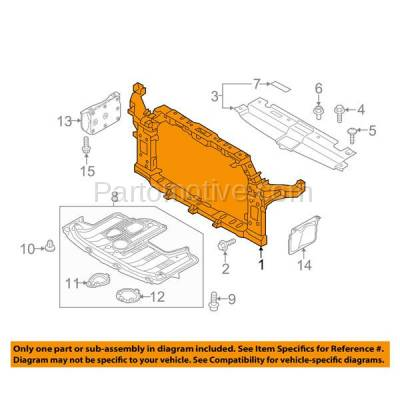 Aftermarket Replacement - RSP-1448 2014-2017 Kia Soul (Base, EX, Exclaim, LX, Plus, SX) Hatchback 4-Door Front Center Radiator Support Core Assembly Primed Plastic - Image 3