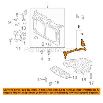 Aftermarket Replacement - RSP-1494R 2009-2013 Mazda 3 (GS, GT, i, S) Front Radiator Support Upper Side Extension Bracket Support Panel Primed Steel Right Passenger Side - Image 3