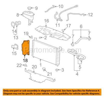 Aftermarket Replacement - RSP-1308L 2007-2013 Chevrolet Silverado 1500 & 2007-2014 Silverado 2500HD/3500HD Pickup Truck Radiator Support Baffle Plastic Left Driver Side - Image 3