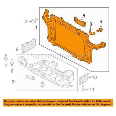 Aftermarket Replacement - RSP-1417 2010-2015 Hyundai Tucson (GL, GLS, L, Limited, SE) (2.0 & 2.4 Liter Engine) Front Center Radiator Support Core Assembly Primed Plastic - Image 3