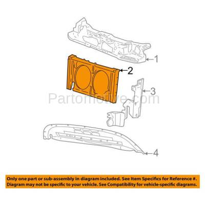 Aftermarket Replacement - RSP-1218 2000-2007 Ford Taurus & 2000-2005 Mercury Sable (Sedan & Wagon) 3.0L Front Center Radiator Support Core Assembly Primed Plastic - Image 3