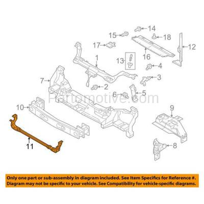 Aftermarket Replacement - RSP-1226 2010-2013 Ford Transit Connect (XL, XLT, XLT Premium) 2.0L (Cargo/Passenger Van) Radiator Support Lower Crossmember Tie Bar Panel - Image 3