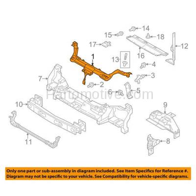 Aftermarket Replacement - RSP-1227 2010-2013 Ford Transit Connect (XL, XLT, XLT Premium) 2.0L (Cargo/Passenger Van) Radiator Support Upper Crossmember Tie Bar Panel - Image 3
