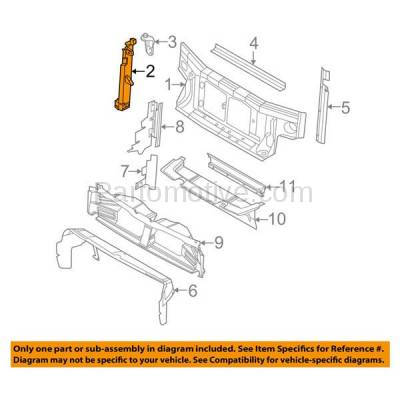 Aftermarket Replacement - RSP-1178L 2007-2010 Ford Explorer & Sport Trac & Mercury Mountaineer Front Radiator Support Core Assembly Bracket Steel Left Driver Side - Image 3