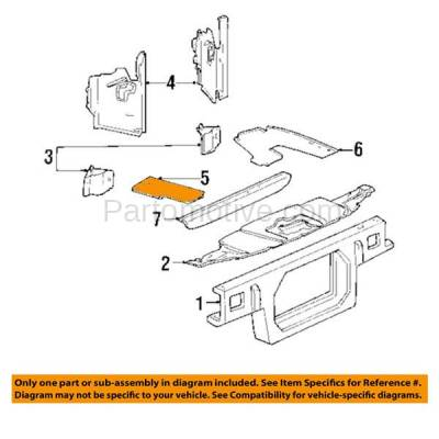 Aftermarket Replacement - RSP-1223R 1998-2002 Lincoln Town Car (Limousine & Sedan) (4.6 Liter V8) Front Radiator Support Lower Air Guide Apron Right Passenger Side - Image 3