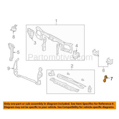 Aftermarket Replacement - RSP-1163R 2001-2004 Ford Escape (Limited, XLS, XLT) Front Radiator Support Brace Bracket Fender Plate Primed Made of Steel Right Passenger Side - Image 3
