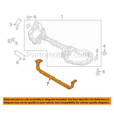 Aftermarket Replacement - RSP-1199 2012-2018 Ford Focus (Hatchback & Sedan) Front Radiator Support Core Assembly Lower Crossmember Tie Bar Primed Made of Steel - Image 3